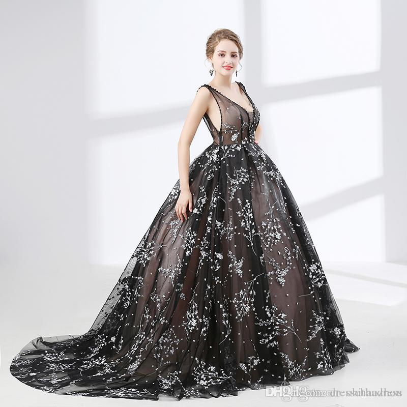 68d7d52968 2018 Beautiful Prom Dresses Deep V Neck Sleeveless Halter Print Crystal  Beads Plus Size Evening Dress Online Dresses Online Sexy Prom Dresses From  ...