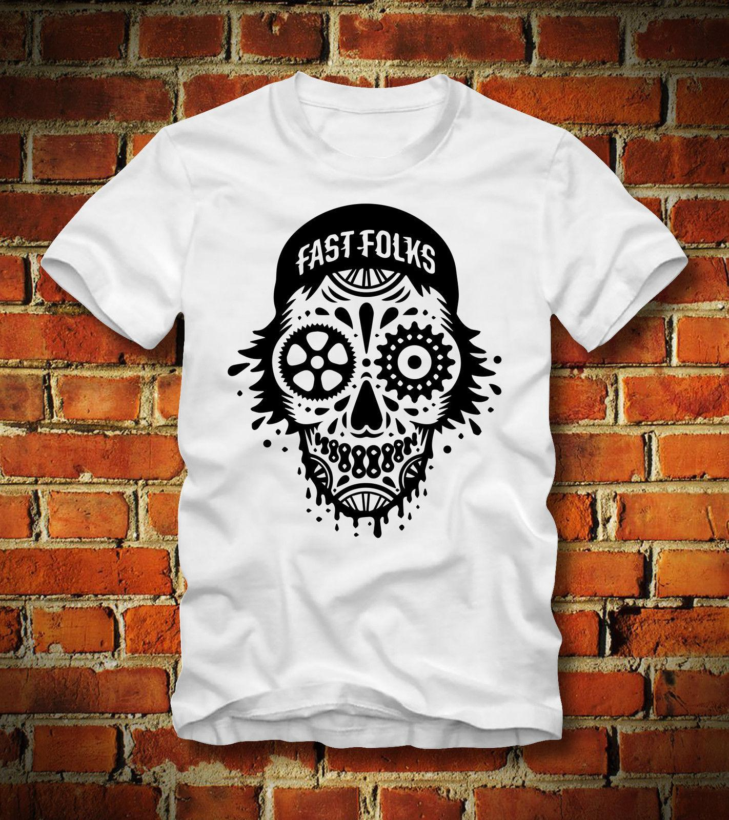 BOARDRIPPAZ T SHIRT FIXED GEAR FIXIE FAST FOLKS BICYCLE FAHRRAD RENNRAD SKULL FG Funny free shipping Unisex Casual tee gift