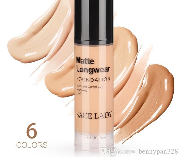 30ml Face Foundation Makeup Professional Base For Dark Skin Matte Cream Oil Control Liquid Natural Cosmetic