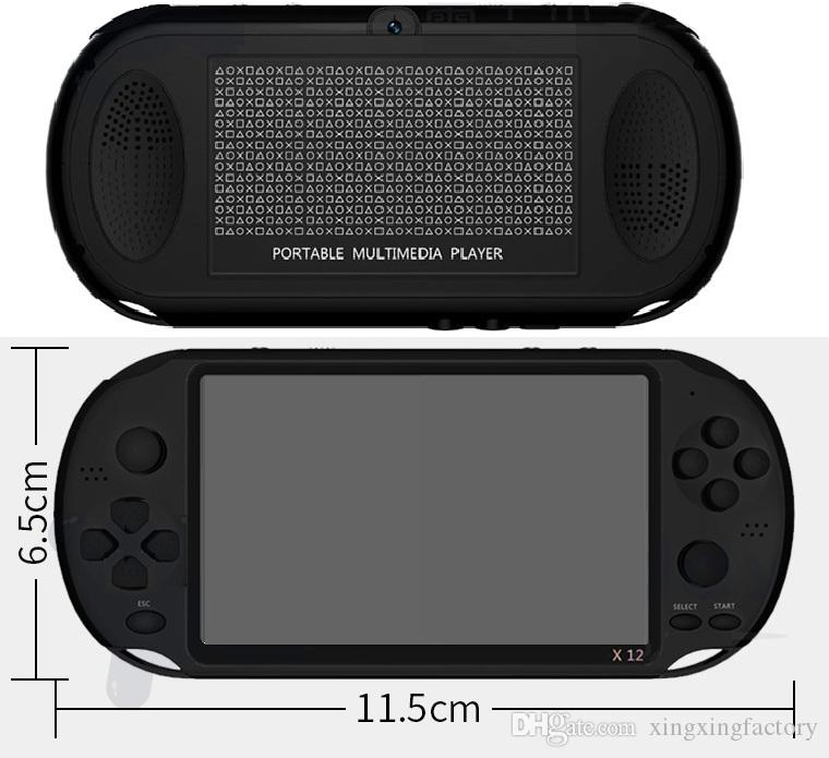 X12 Handheld Game Player 8GB Memory Portable Video Game Consoles 5.1 inch came palyer Support TF Card 32gb MP3 MP4 Game players
