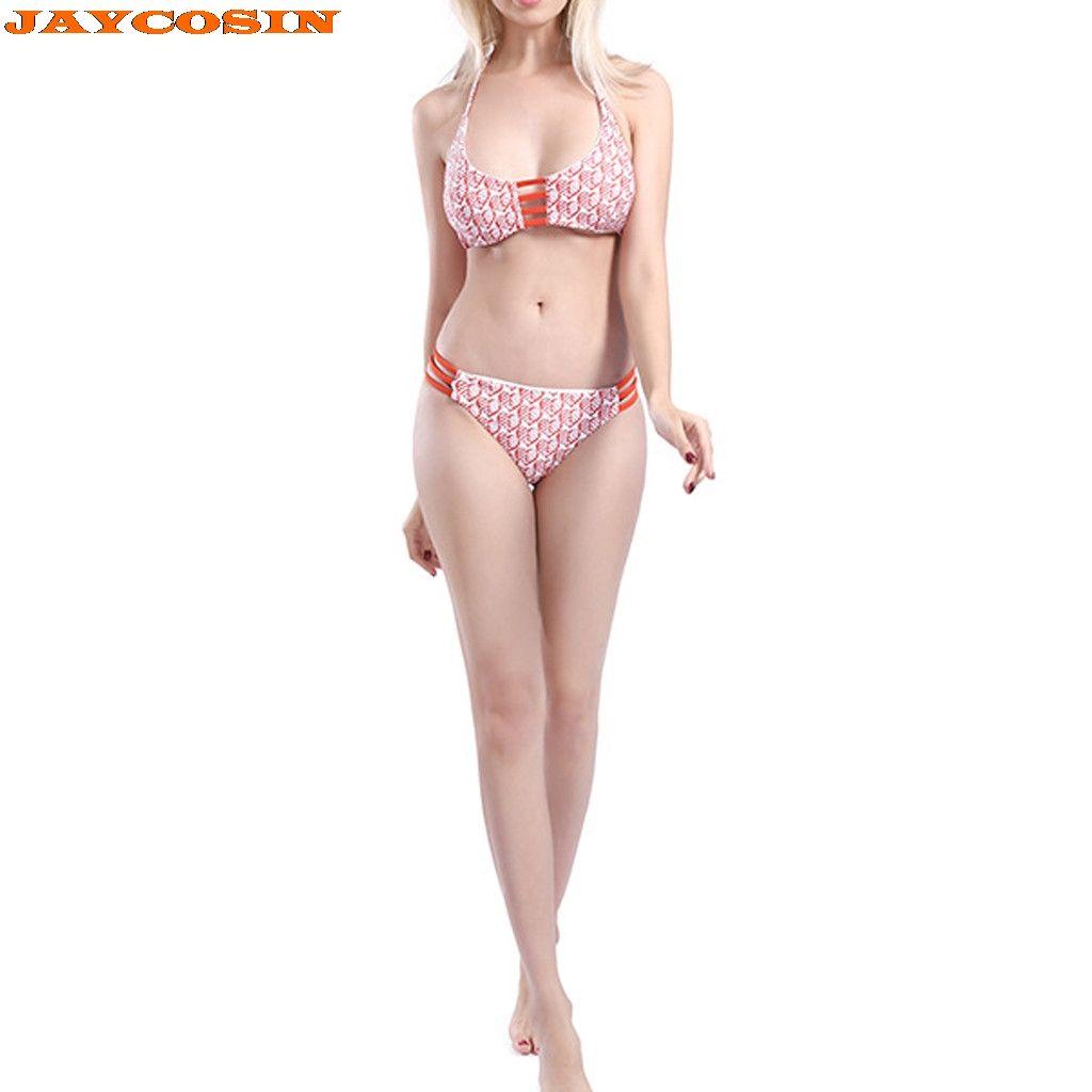 4cff8c725afe Acquista JAYCOSIN Sexy Donna Stampa A Forma Di Cuore Imposta Costumi Da  Bagno Moda Da Spiaggia Costumi Da Bagno Donna Costumi Da Bagno Donna Due  Pezzi ...