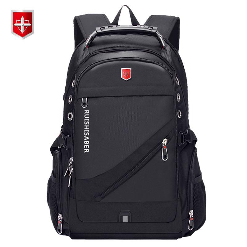 407e89ee7cb8 Oxford Swiss 17 Inch Laptop Backpack Men USB Charging Waterproof Travel  Backpack Women Rucksack Male Vintage School Bag mochila
