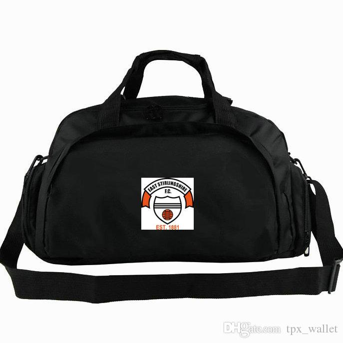 East Stirling duffel bag FC Shire club tote Football backpack Exercise luggage Soccer sport shoulder duffle Outdoor sling pack