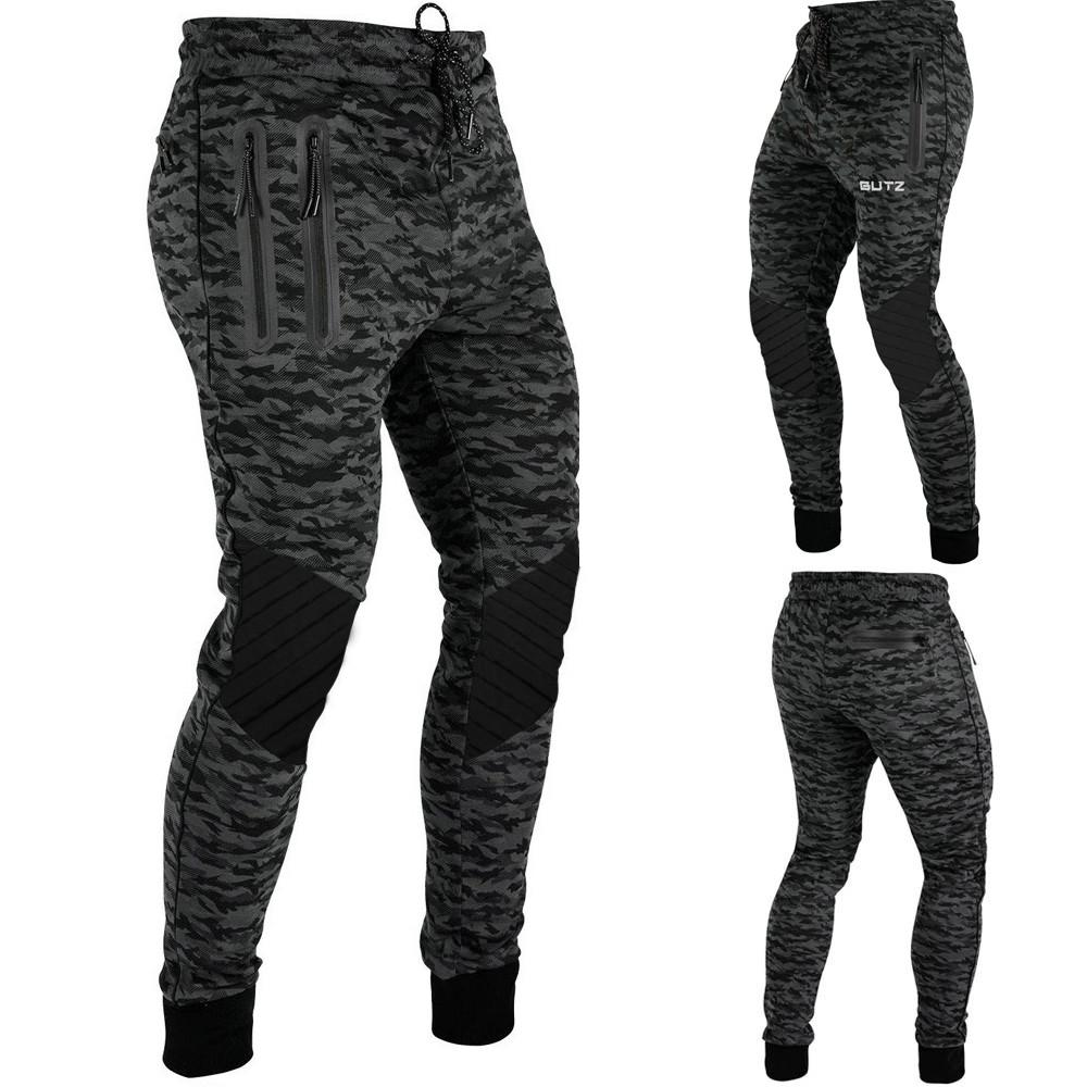 Men Camouflage Fold Overalls Casual Pocket Sport Work Casual Trouser Pants W311