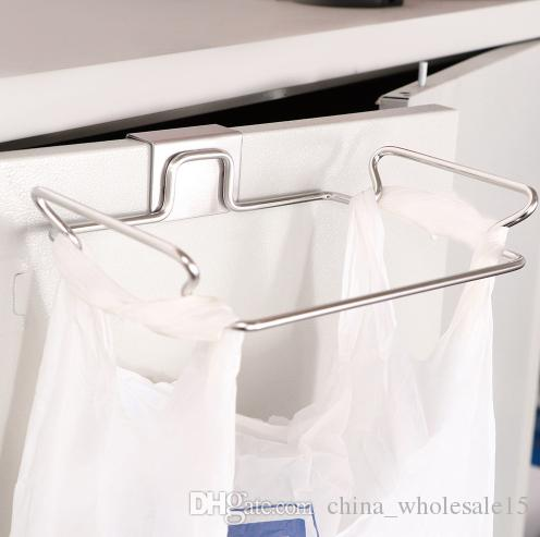 1Pc Kitchen Rubbish Bag Storage Holders Racks Cabinet Stand Hanging Trash Organizer Home Towel Hanging Container Products
