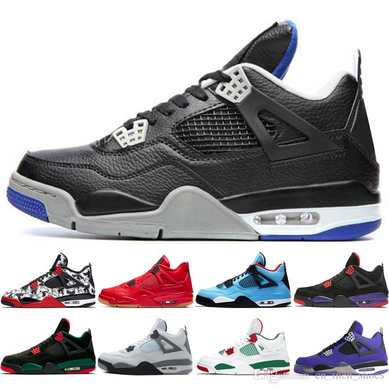 be26efb3dea 2019 Hot New 4 4s Tattoo Singles Day Mens Basketball Shoes Travis ...