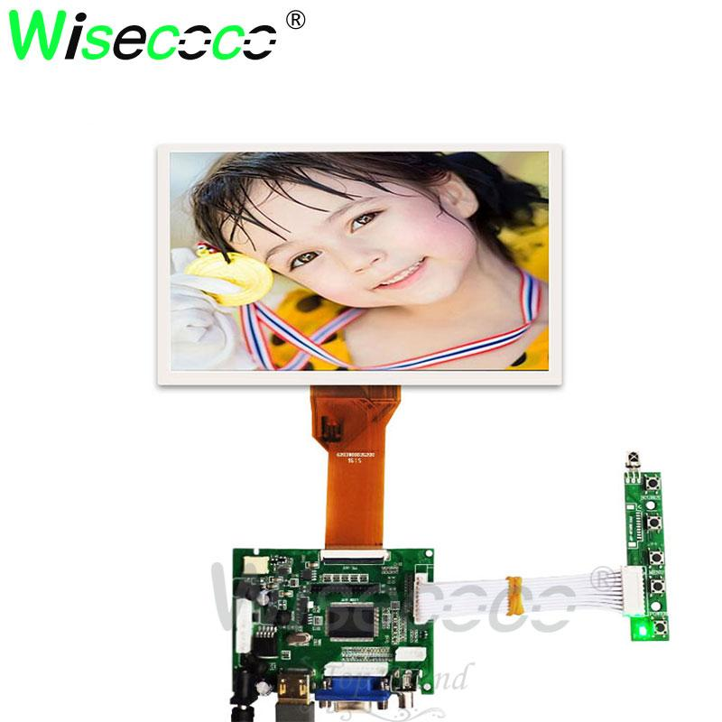 7 Inch 800x480 TFT LCD Monitor Screen + Driver Board HDMI
