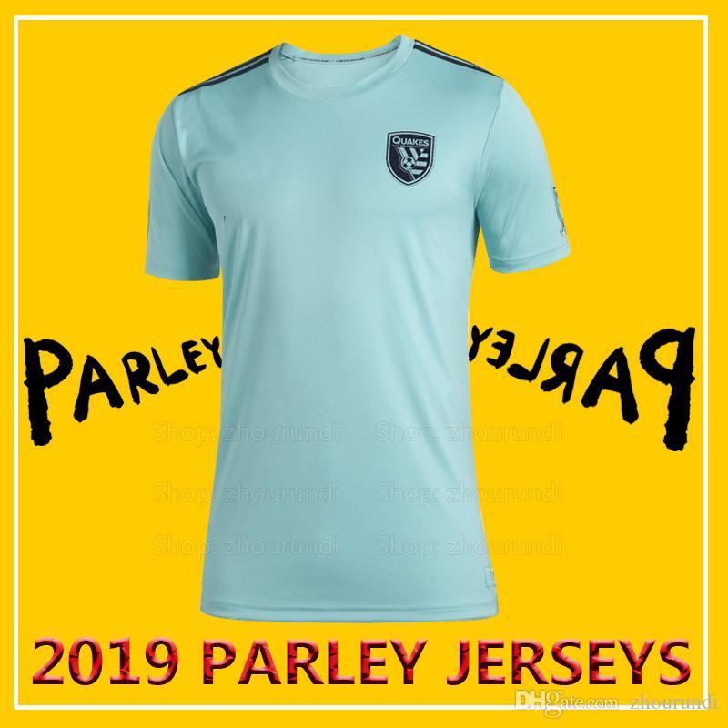 online store 7baa8 07b30 2019 San Jose Earthquakes Parley soccer jerseys 2019/20 San Jose  Earthquakes x MLS x Parley eco-friendly jersey Running Jerseys XXS-4XL