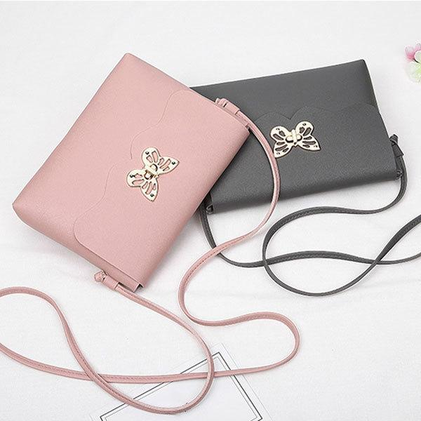a6ca9ed09347 Cheap Fashion Solid Color Women Female PU Leather Bowknot Buckle Small Shoulder  Bag Phone Purse Messenger Bag Shopping Handbag Popular FA 1 Purses On Sale  ...