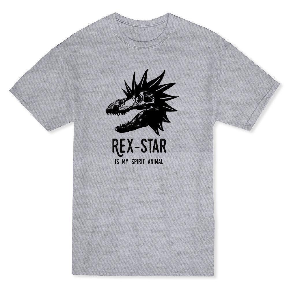 d6c54d97a9e6 Rex Star Is My Spirital Animal Dinosaurs Lover Men'S Heather Grey T Shirt  Print T Shirt Men Brand Clothing Letter Printing Joke T Shirt Coolest Tee  Shirts ...