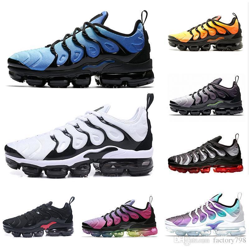 New TN Plus Running Shoes Classic Outdoor Air Cushion Tn Black White ... f2d3b3526853
