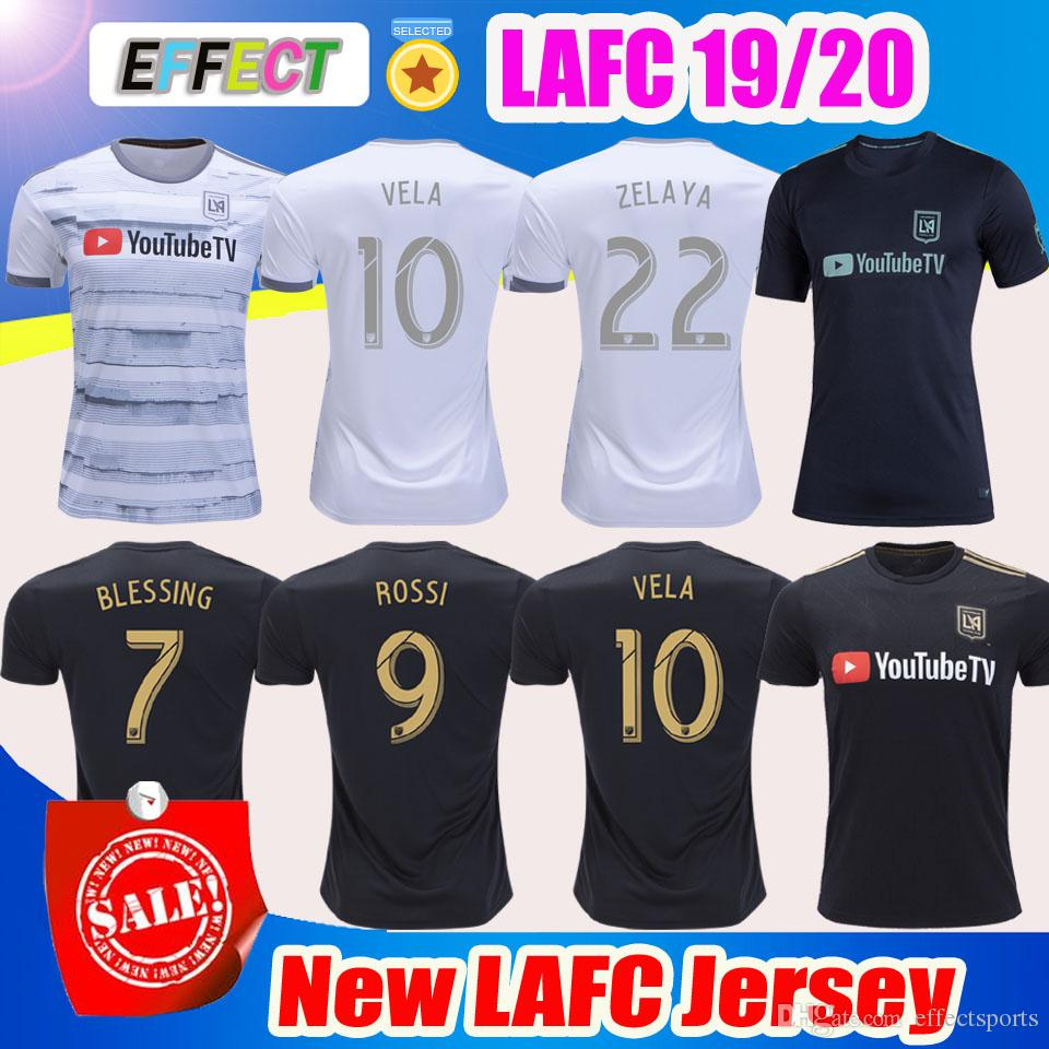a3a6022e2992e8 2019 New Arrived 2019 LAFC Carlos Vela Soccer Jerseys 18 19 20 Home X  ZELAYA ROSSI Los Angeles FC Black Parley Primary WHITE Football Shirts From  ...