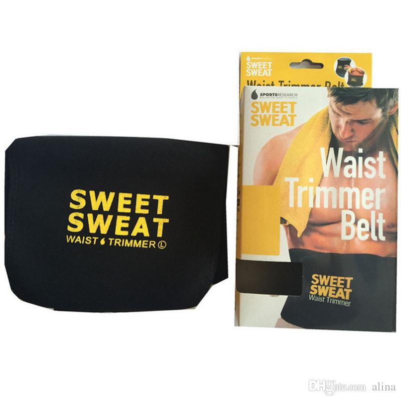3 Colors Hot Selling Sweet Sweat Premium Waist Trimmer Men Women Belt Slimmer Exercise Ab Waist Wrap with retail Packaging