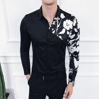 e9735f67a3f 2019 Shirt Men Streetwear Long Sleeve Mens Shirts Casual Shirts Regular Fit  Hawaiian Chemise White Black Floral Camisa Masculina 2019 From Cozywine, ...