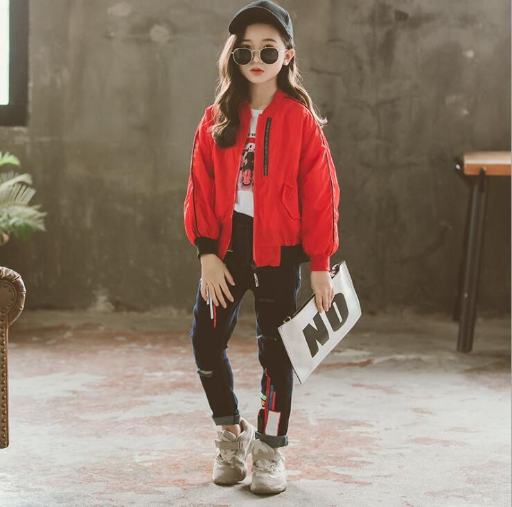 822071c4b992 W234 Age 6 14 Year Old Girl Jacket 2019 Spring New Product Child ...