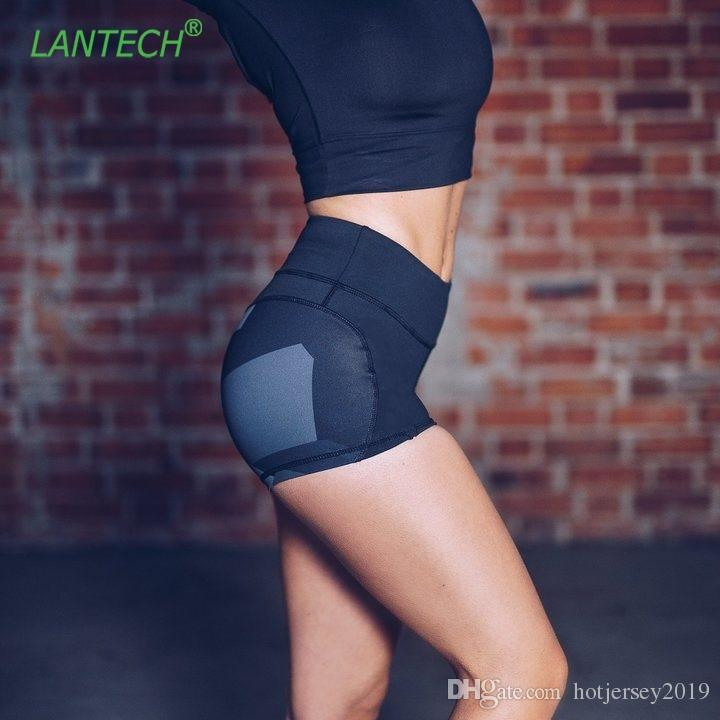 LANTECH Women Yoga Shorts Jogging Sports Running Sportswear Fitness Exercise Gym Compression Tights Shorts Sexy Clothes #313816