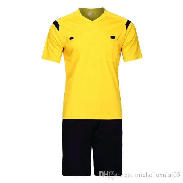 eac628e617d 2019 Adult Football Professional Sets Mens Soccer Referee Uniform Thai Referee  New Designs Jersey Shorts Judge Soccer Kits Sportswear From  Michellexulai05