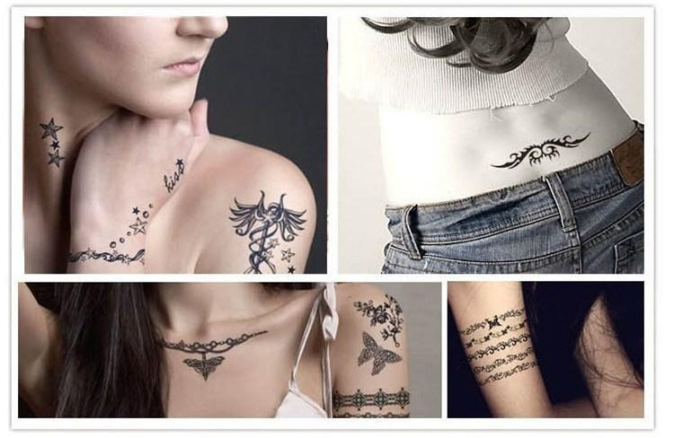 Lovely Waterproof Temporary Tattoo Dreamcatcher Feather Tatoo Henna Fake Flash Tattoo Taty Tattoos