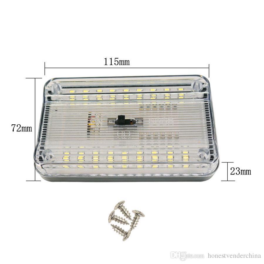 1 36 Led Voiture Intérieur Dc12v Toit Plafond De Rectangulaire Dôme Lecture Pcs Smd Auto Lampe Blanc SzMpUqGV