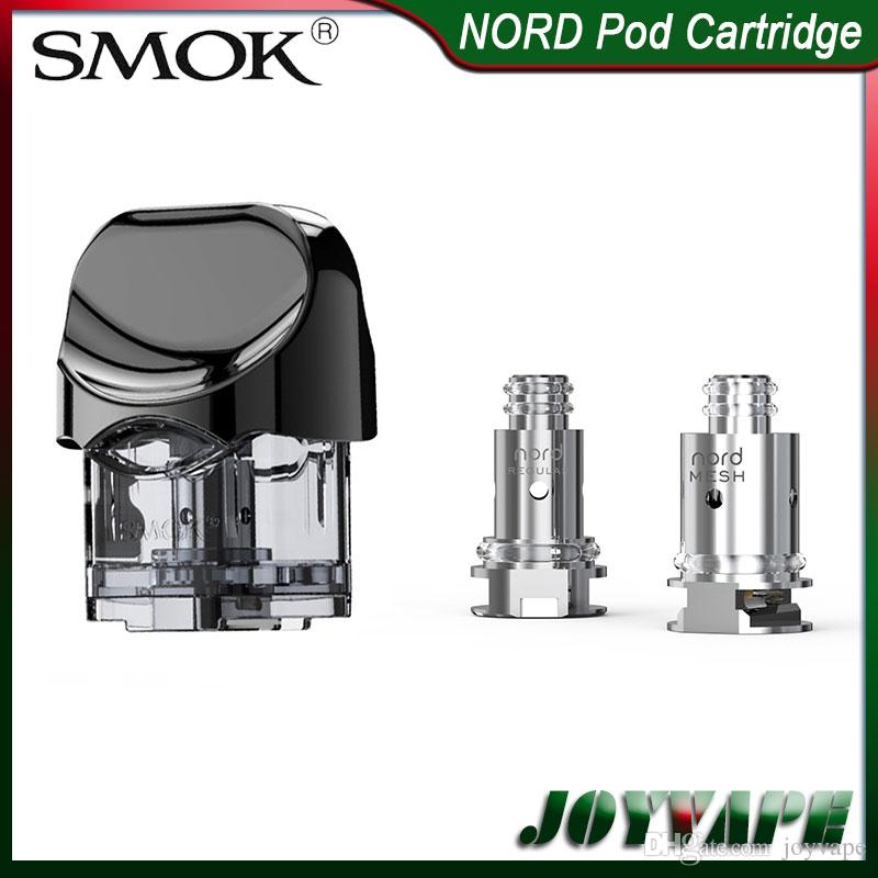 SMOK NORD Pods Cartridges 3ml with Nord 1 4ohm Regular & 0 6ohm Mesh Coils  Replacement Pods Cartridges Coils for SMOK NORD Pod Kit