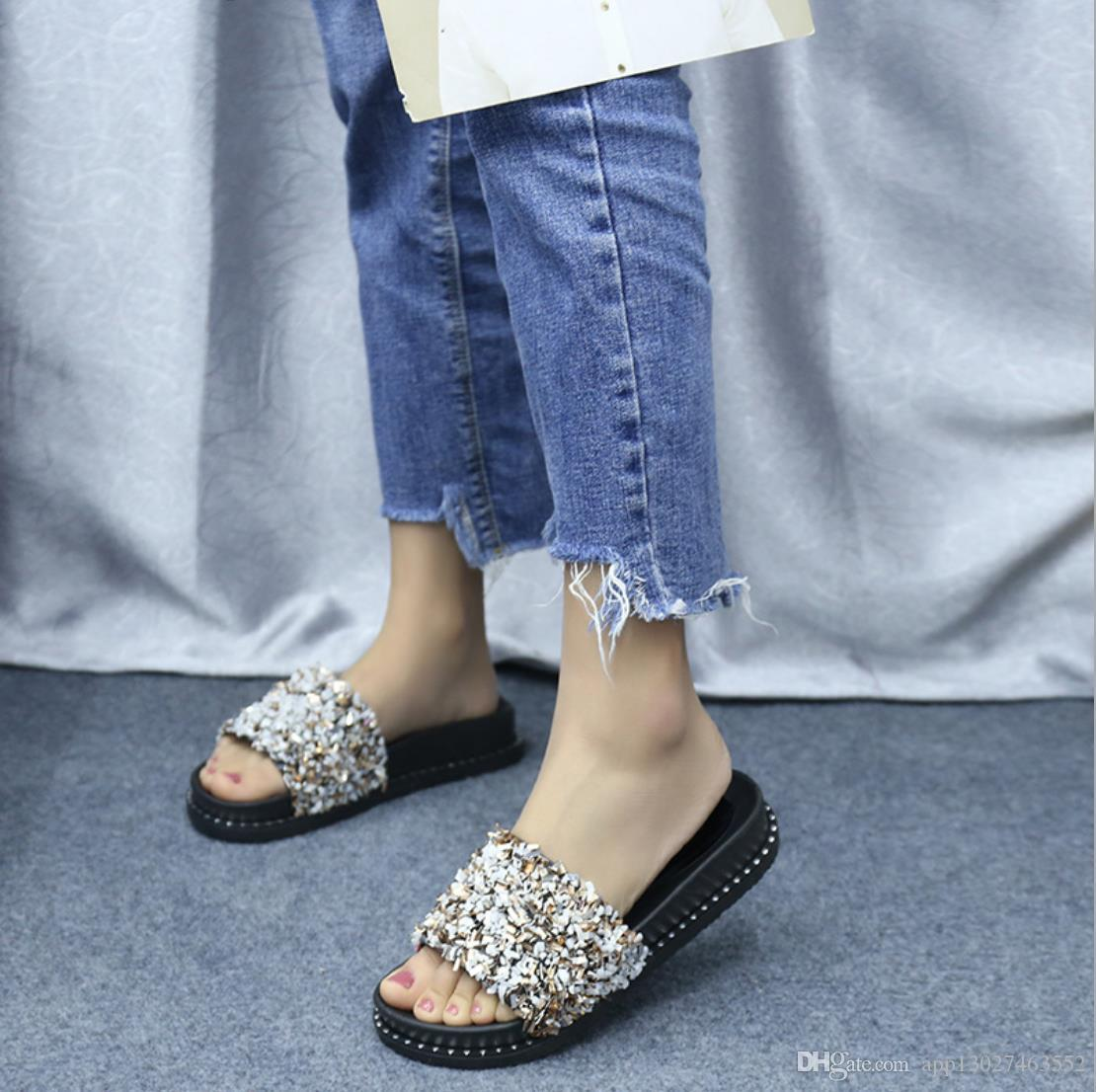 cc3caae89c56 Slippers Female Summer Wear 2019 New Korean Fashion One Word Drag Outdoor Beach  Casual Sandals And Slippers Womens Loafers Fashion Shoes From  App13027463552 ...