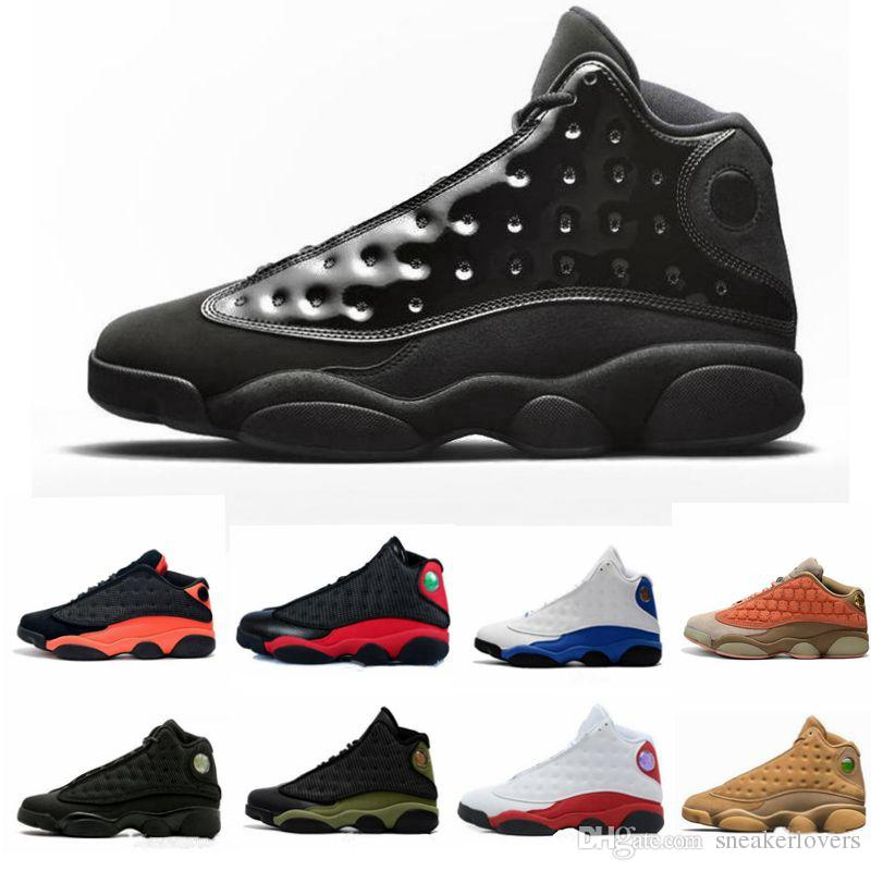 bfedd8fccf6159 Designer Sneakers New Mens 13 Cap And Gown Black Cat Atmosphere Grey  Basketball Shoes 13s White Women Chicago Red XIII Trainer Sneakers Best  Basketball ...