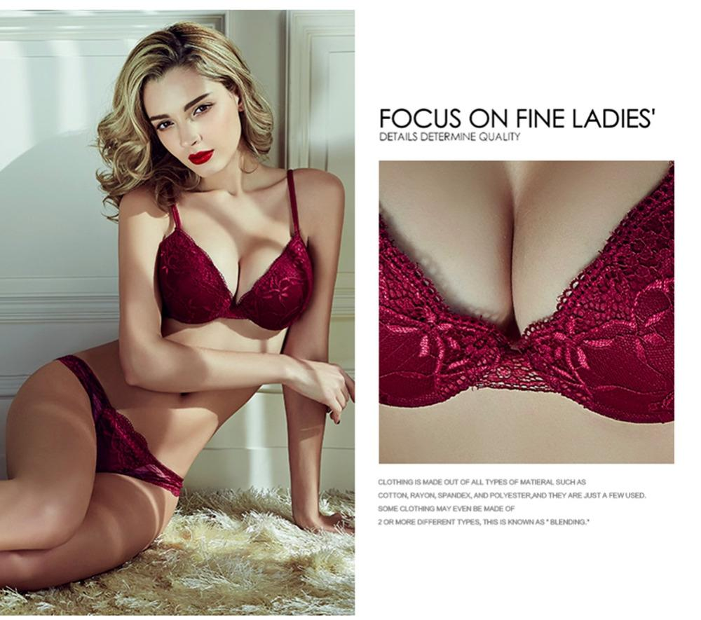 ae60c0e2c7 2019 High End Womens Underwear Suit Push Up Bra Sets Sexy Romantic  Temptation Lace Brassiere Young Women Bras And Panty Bralette AB C From  Yuhuicuo