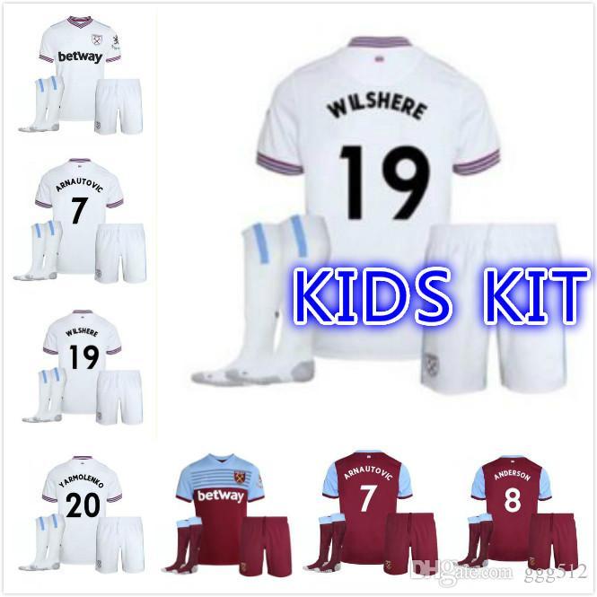 88707725053 2019 KIDS KIT 19 20 West Ham Soccer Jerseys United Home Away A AYEW ...