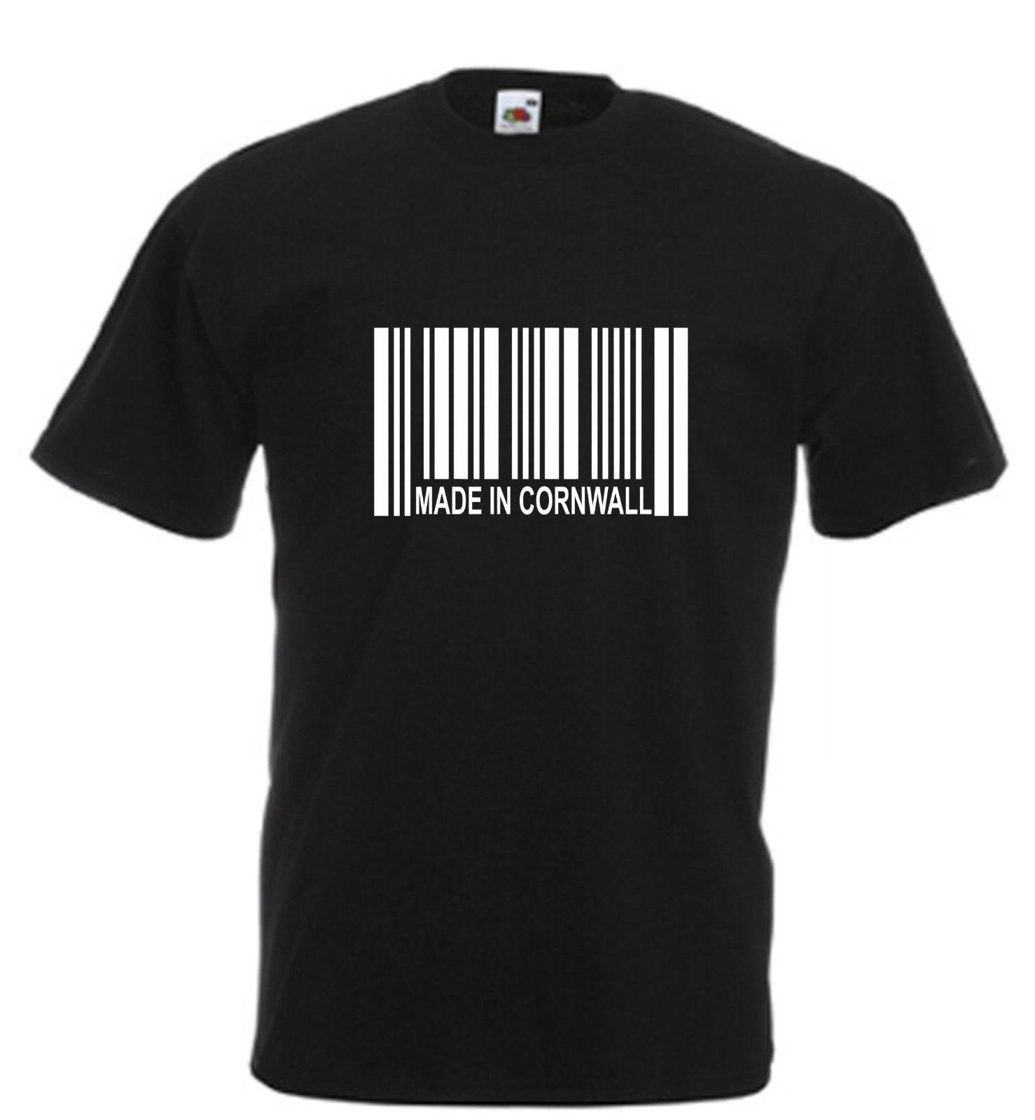 377993eb2b Made In Cornwall Barcode Novelty T Shirt Cornish Birthday Xmas Gift All  SizesFunny Unisex Casual Tshirt Cotton T Shirt Create T Shirts From  Walkerfranck, ...