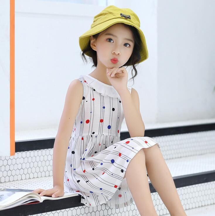 7bf6cea1c0c 2019 Girl Dress Princess Floral Skirt Sleeveless Petal Collar ...