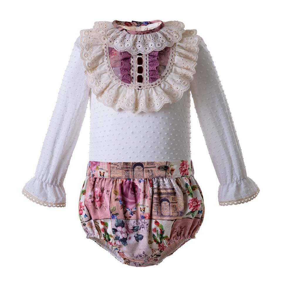 499398a53 2019 Pettigirl Spanish Style Baby Girl Clothes Set Floral Printed Lace Kid Clothing  Sets Boutique Toddler Girl Designer Clothes U DMCS106 B326 From ...