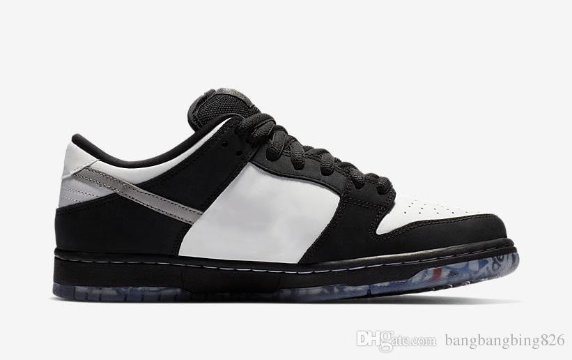 los angeles 3096a 179e7 Compre 2019 Nuevo Auténtico Staple X Dunk SB Low Pro OG QS Negro Blanco  Zapatos De Tabla De Skate No Para Revender Zapatillas Deportivas De Panda  Pigeon ...