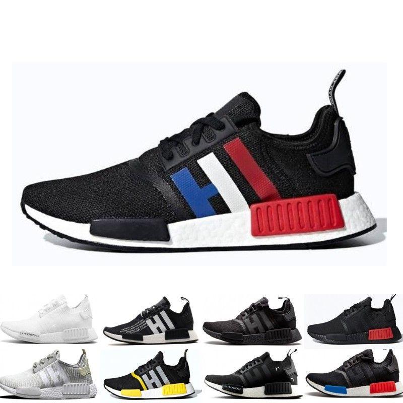 6eb961e85180f 2019 Discount NMD R1 Running Shoes OG Japan Triple Black White Solar ...