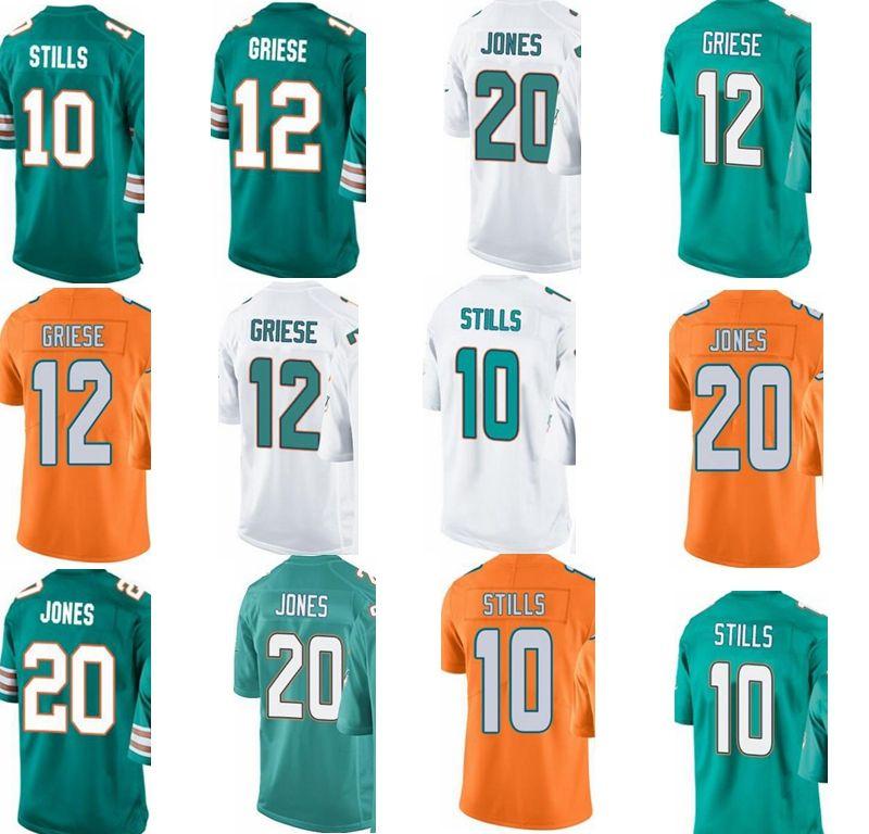 sports shoes 84720 0075e custom Miami men/youth/women#10 Kenny Stills 12 Bob Griese 20 Reshad Jones  Dolphins/rush/elite jersey #Hockey Jackets