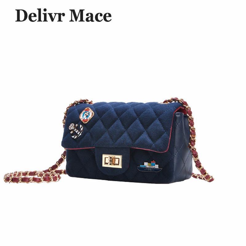 f2c733f86a2f 2019 Fashion Shoulder Bag Women Small 2018 Newest Suede Blue Badge PU  Leather Girl Cross Body Bags Sac A Main Female Crossbody Messenger Cheap  Handbags ...