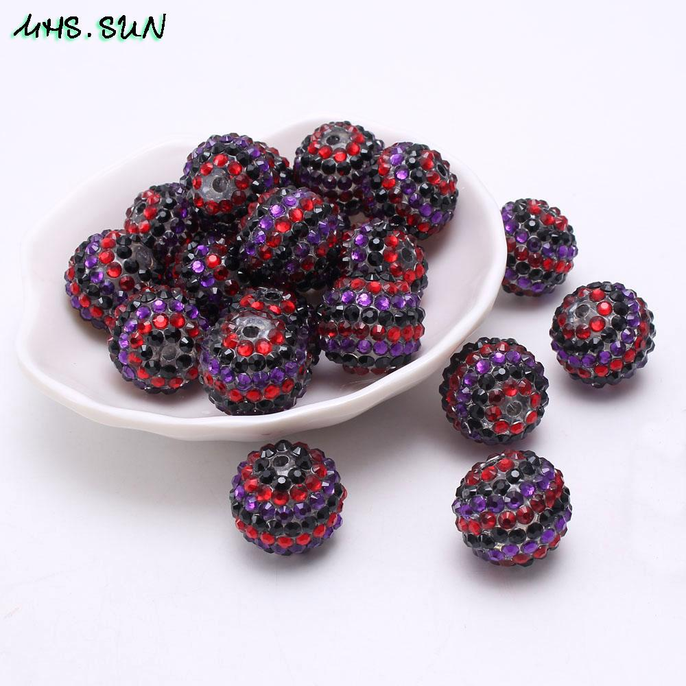 Wholesale Rhinestone Resin Beads Red black purple Strip Loose Resin Ball  Beads for Child Chunky Necklace DIY Jewelry 18 20 22mm Online with   44.33 Piece on ... 68381dd0ea65