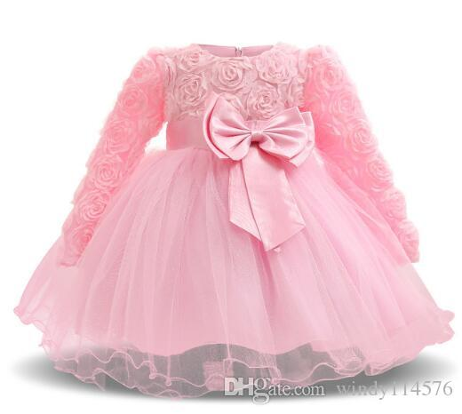 50959b254c Vintage Kids Girls Dress Baptism Dresses For Baby Girl Kids 1Year Birthday  Christening Gown Infant Party Clothing Bebes Vestidos Wears XF106
