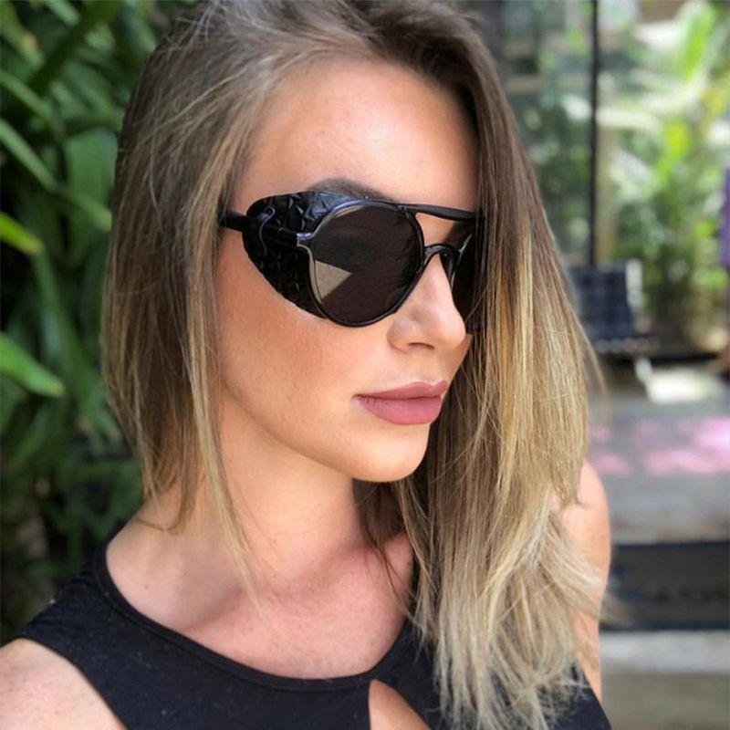 Retro Round Steam Punk Sunglasses Women Men 2019 Vintage Flat Top
