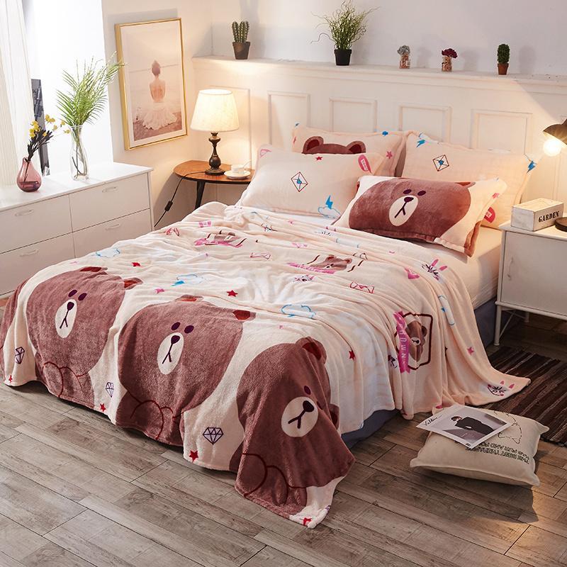 Brand Cheap Cartoon Fleece Blanket Bedding Children Cover On The Bed