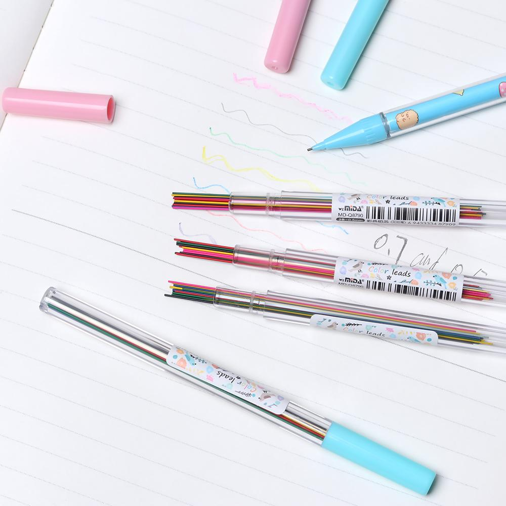 2019 0 5 0 7 mm colorful mechanical pencil lead art sketch drawing color pencil refill school office supplies from amaryllier 33 03 dhgate com