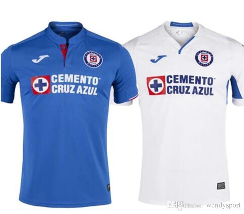 19f91d6a0 2019 2020 Mexico Club Cruz Azul Liga MX Soccer Jerseys 19 20 Home ...