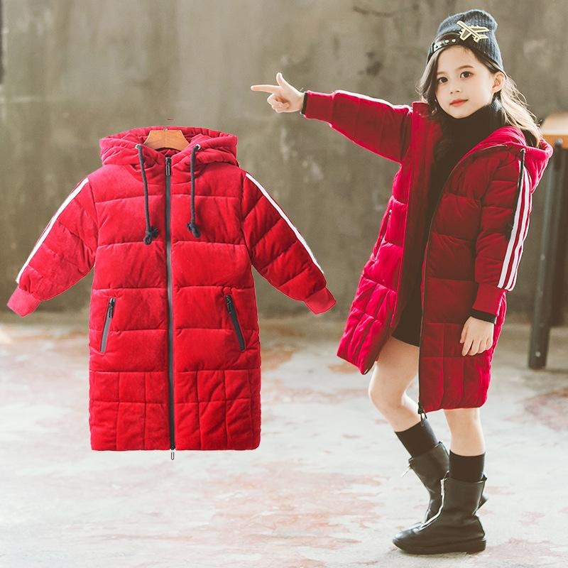 784f8fc1fc981 Kids Cotton Padded Clothes Children Wear Fashion Long Winter New Cuhk  Hooded Coat Toddler Girl Winter Clothes Childrens Quilted Coats Toddler  Winter Coat ...