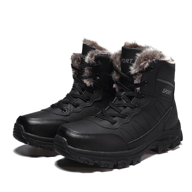 344d5bd0e 2019 New Fashion Winter Warm Snow Boots Men Boots Fully Fur Lined Ankle  Bootie Waterproof Outdoor Hiking Walking Casual Shoes Wholesale Chukka Boots  Men ...