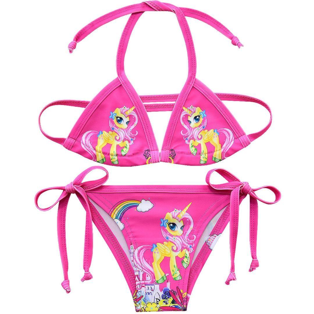 6085444d7e Kids bikini Unicorn Swimsuit For Girls Children Two-pieces Bikini Suits  Summer Beach Wear Kids Girls Unicorn Swimwear G48-8066