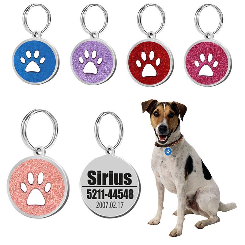 e4678e6cb739 Dog ID Tag Engraved Metal Customized Pet Tags Small Large Dog ...