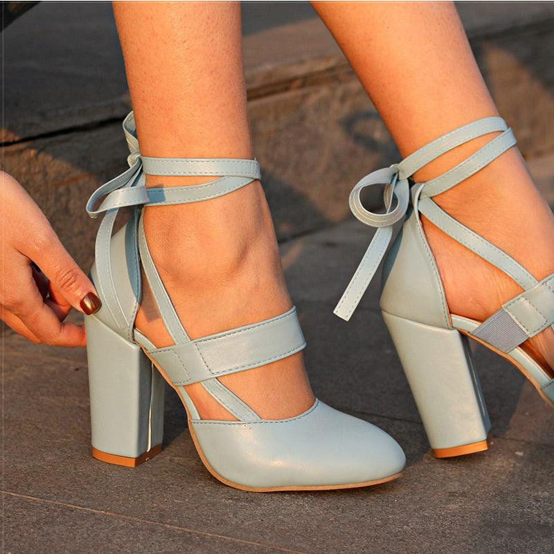 cd62a79308f1 Designer Dress Shoes Women Pumps Comfortable Thick Heels Women Brand High  Heels Ankle Strap Women Gladiator Heeled Sandals 8.5CM Wedding Online  Clothes ...