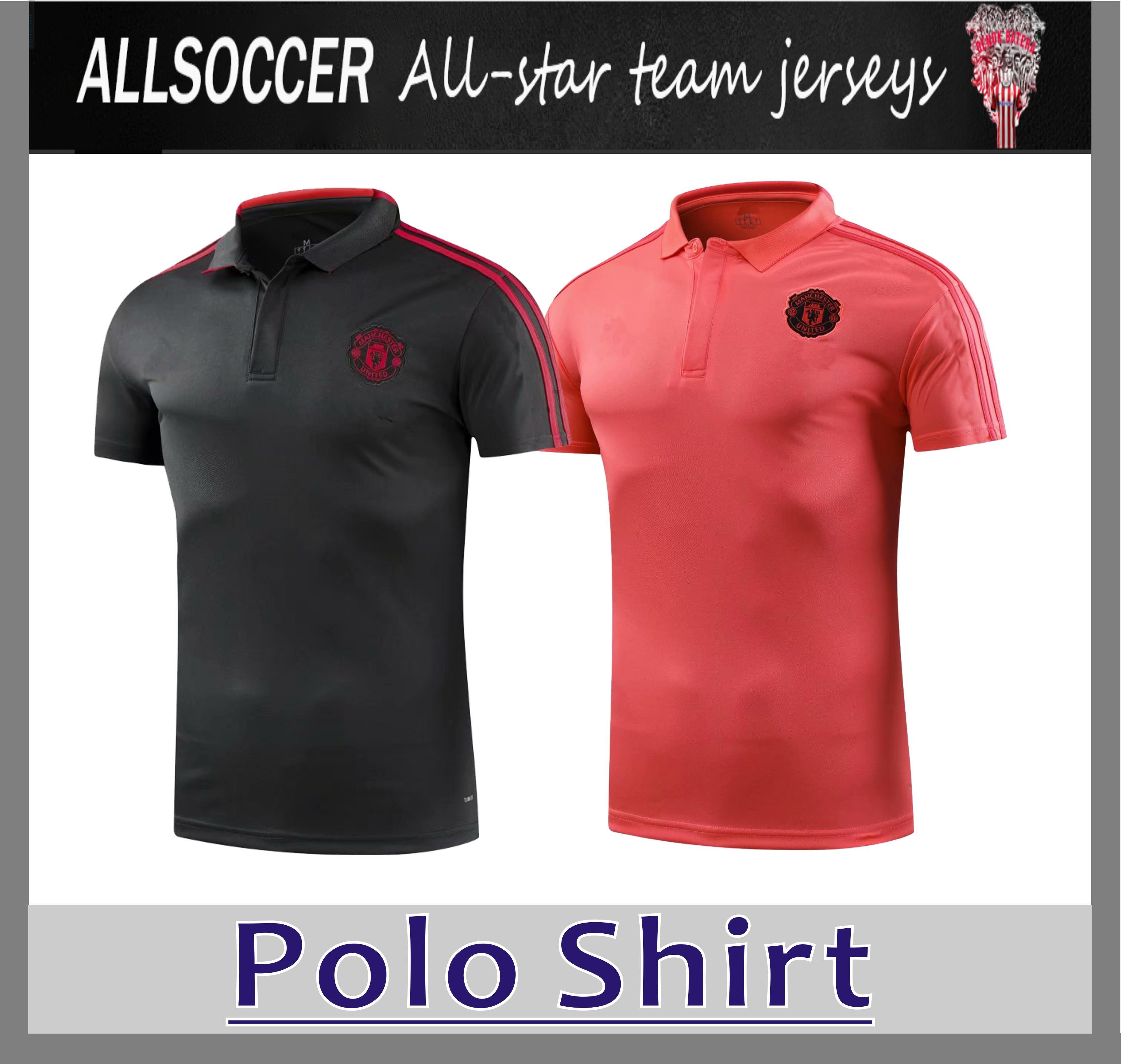 e26cc7454f39e Polo Man U 2019 Azul 18 19 POGBA Fútbol Polo Uniformes De Fútbol Camiseta  Deportiva A La Venta Por Allsoccer