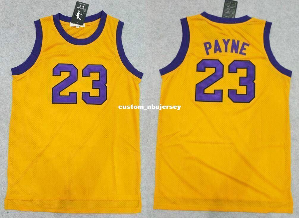 e5299ede3cd 2019 Cheap Custom Stitched Sewn Martin Payne TV Show  23 Basketball Jersey  Yellow Stitch Customize Any Number Name MEN WOMEN YOUTH XS 5XL From ...