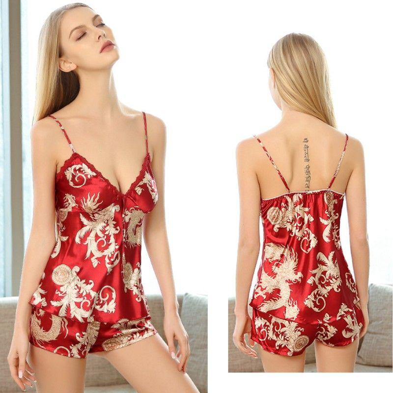 59afee1619 2019 YSMARKET Hot Selling Women Satin Lace Robe Shorts Sexy Babydoll Sleepwear  Nightwear Pajamas Set ES2018002 From Yannisfashion