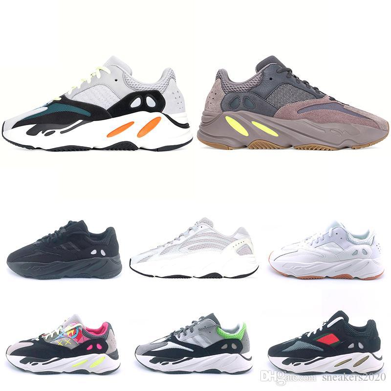 b64cff2b7ba Compre Adidas Kanye West 700 Malva Estático 3 M Onda Corredor Tênis Para  Mulheres Dos Homens 700 S Preto Branco Mens Designer Trainer Tênis  Esportivos ...
